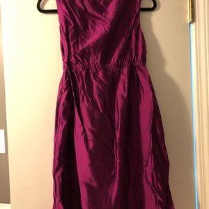LOFT Dresses - Ann Taylor LOFT Burgundy Sheen Dress